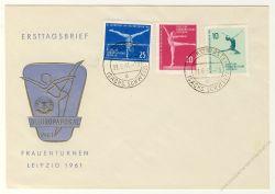 DDR 1961 FDC Mi-Nr. 830-832 ESt. Kunstturn-Europapokal der Frauen