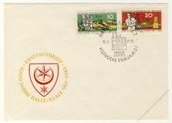 DDR 1961 FDC Mi-Nr. 833-834 SSt. 1000 Jahre Stadt Halle (Saale)