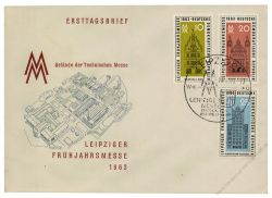 DDR 1963 FDC Mi-Nr. 947-949 SSt. Leipziger Frühjahrsmesse