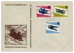DDR 1966 FDC Mi-Nr. 1156-1158 ESt. Rennrodel WM in Friedrichroda