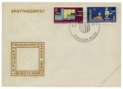 DDR 1966 FDC Mi-Nr. 1159-1160 SSt. Leipziger Frühjahrsmesse