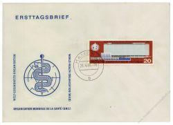 DDR 1966 FDC Mi-Nr. 1178 ESt. Einweihung des neuen Verwaltungsgebäudes der WHO