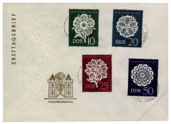 DDR 1966 FDC Mi-Nr. 1185-1188 ESt. Plauener Spitze