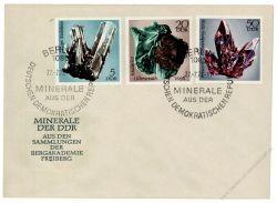 DDR 1972 FDC Mi-Nr. 1737-1742 SSt. Minerale aus den Sammlungen der Bergakademie Freiberg