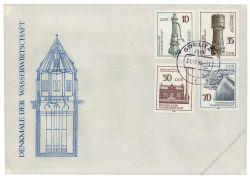 DDR 1986 FDC Mi-Nr. 2993-2996 ESt. Denkmale der Wasserwirtschaft