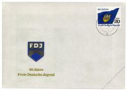 DDR 1986 FDC Mi-Nr. 3002 ESt. 40 Jahre Freie Deutsche Jugend
