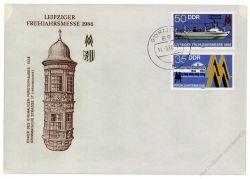 DDR 1986 FDC Mi-Nr. 3003-3004 ESt. Leipziger Frühjahrsmesse