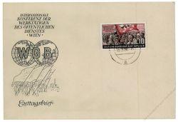 DDR 1955 FDC Mi-Nr. 452 ESt. Weltgewerkschaftsbund