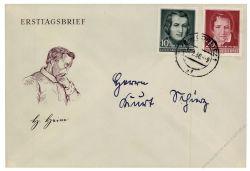 DDR 1956 FDC Mi-Nr. 516-517 ESt. 100. Todestag von Heinrich Heine