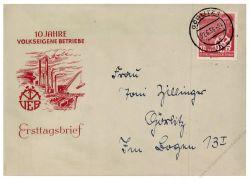 DDR 1956 FDC Mi-Nr. 527 ESt. 10 Jahre Volkseigene Betriebe