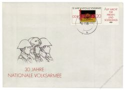 DDR 1986 FDC Mi-Nr. 3001 (ZD) ESt. 30 Jahre Nationale Volksarmee