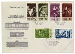 DDR 1967 FDC Mi-Nr. 1286-1291 ESt. Vermisste Gemälde