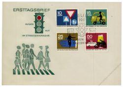 DDR 1966 FDC Mi-Nr. 1169-1172 SSt. Sicherheit im Straßenverkehr