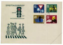 DDR 1966 FDC Mi-Nr. 1169-1172 ESt. Sicherheit im Straßenverkehr