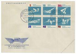 DDR 1962 FDC Mi-Nr. 907-912 (ZD) ESt. Schwimm-Europameisterschaften