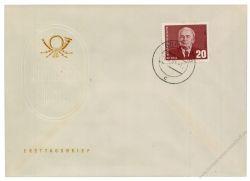 DDR 1961 FDC Mi-Nr. 807 ESt. 85. Geburtstag von Präsident Wilhelm Pieck