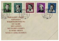 DDR 1961 FDC Mi-Nr. 808-812 ESt. Nationale Gedenkstätten