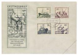 DDR 1961 FDC Mi-Nr. 817-820 ESt. Hochseefischerei
