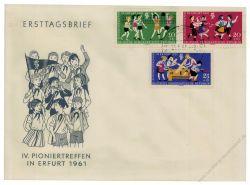 DDR 1961 FDC Mi-Nr. 827-829 ESt. Pioniertreffen