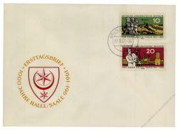 DDR 1961 FDC Mi-Nr. 833-834 ESt. 1000 Jahre Stadt Halle (Saale)