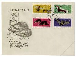 DDR 1962 FDC Mi-Nr. 869-872 ESt. Geschützte Tiere