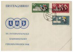 DDR 1962 FDC Mi-Nr. 886-888 ESt. Internationale Radfernfahrt für den Frieden