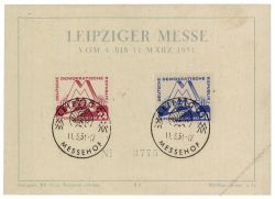 DDR 1951 Mi-Nr. 282-283 SSt. Leipziger Frühjahrsmesse