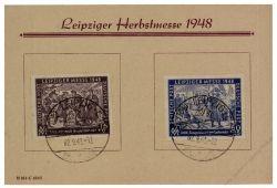 SBZ 1948 Mi-Nr. 198-199 SSt. Leipziger Herbstmesse