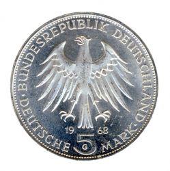 BRD 1968 J.397 5 DM Johannes Gutenberg vz