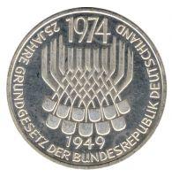 BRD 1974 J.413 5 DM 25 Jahre Grundgesetz st
