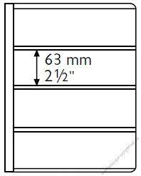 Ersatzhüllen für Banknotenalbum 5er Pack für 4 Banknote bis 195 x 63 mm (EB-63)