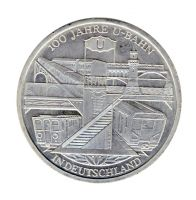 BRD 2002 J.491 10 Euro 100 Jahre U-Bahn in Deutschland st