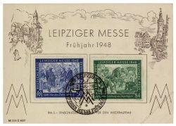 Gemeinschaftsausgaben 1948 FDC Mi-Nr. 967-968 SSt. Leipziger Frühjahrsmesse