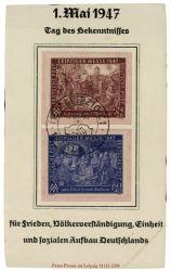 Gemeinschaftsausgaben 1947 Mi-Nr. 941IC-942ID SSt. Leipzig 1. Mai 1947