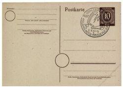 Gemeinschaftsausgaben 1947 Mi-Nr. P952 SSt. Leipzig 450 Jahre Messe-Privileg