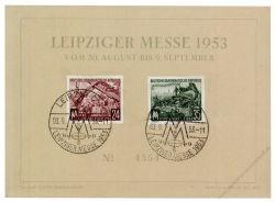 DDR 1953 Mi-Nr. 380-381 SSt. Leipziger Herbstmesse