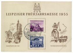 DDR 1955 Mi-Nr. 447-448 SSt. Leipziger Frühjahrsmesse
