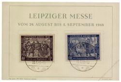 SBZ 1948 FDC Mi-Nr. 198-199 SSt. Leipziger Herbstmesse