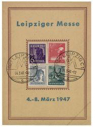 Gemeinschaftsausgaben 1947 Mi-Nr. 944, 945, 947, 949 SSt. Leipziger Frühjahrsmesse