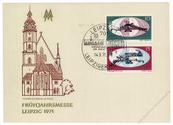 DDR 1971 Mi-Nr. 1653-1654 SSt. Leipziger Frühjahrsmesse