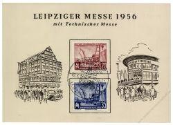 DDR 1956 Mi-Nr. 518-519 SSt. Leipziger Frühjahrsmesse