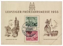 DDR 1955 Mi-Nr. 450-451 SSt. Leipziger Frühjahrsmesse