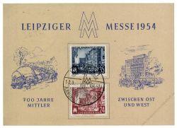 DDR 1954 Mi-Nr. 433-434 SSt. Leipziger Frühjahrsmesse