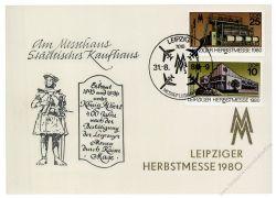 DDR 1980 Mi-Nr. 2539-2540 SSt. Leipziger Herbstmesse