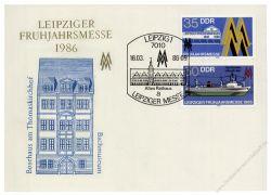 DDR 1986 Mi-Nr. 3003-3004 SSt. Leipziger Frühjahrsmesse
