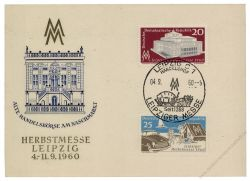 DDR 1960 Mi-Nr. 781-782 SSt. Leipziger Herbstmesse