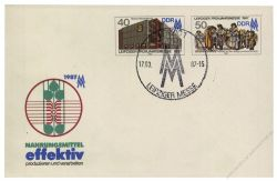 DDR 1987 Mi-Nr. U06 SSt. Leipziger Frühjahrsmesse 1987