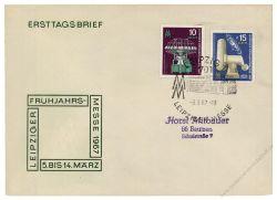 DDR 1967 Mi-Nr. 1254-1255 SSt. Leipziger Frühjahrsmesse