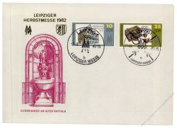 DDR 1982 Mi-Nr. 2733-2734 SSt. Leipziger Frühjahrsmesse
