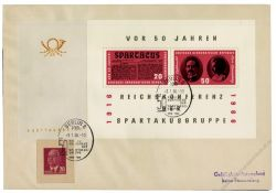 DDR 1966 FDC Mi-Nr. 1154-1155 (Block 25) SSt. Spartakusgruppe